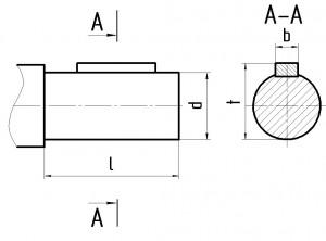 Размеры валов 1Ц2Н 2