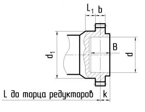Размеры валов 1Ц2Н 3
