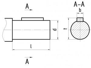 Размеры вала редуктора Ц2У К 2