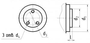 Размеры вала редуктора Ц2У К 4