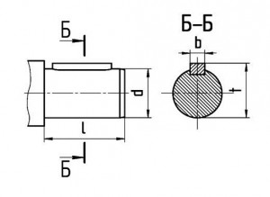 размеры валов редуктор вк 2