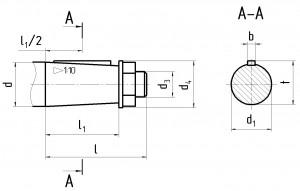 Размеры вала редуктора Ц2У К 1