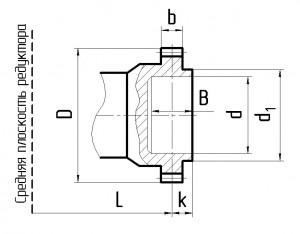 Размеры вала редуктора Ц2У К 3